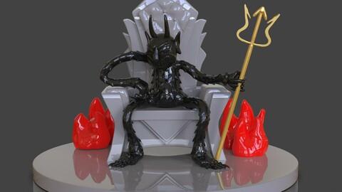 Cuphead The Devil Sculpture