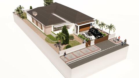 3D Modeling Architecture Modern Residence