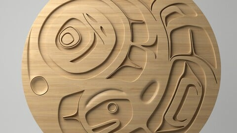 Northwest Coast Art Circular - Design 01
