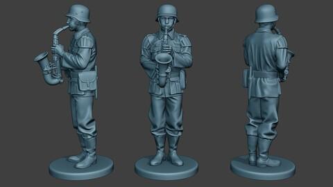 German musician soldier ww2 Stand saxophone G8