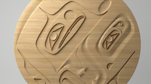 Northwest Coast Art Circular - Design 20