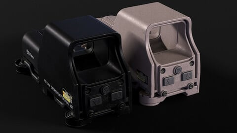 Eotech 553 Holographic Sight PBR Low-poly 3D model