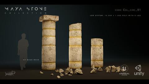 Mayan Stone 03 PBR 4K