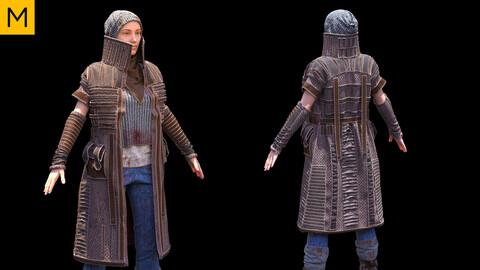 Womens clothing with coat. Avatar genesis 8 Female. Marvelous Designer, Clo3d project + OBJ/FBX files.(14)
