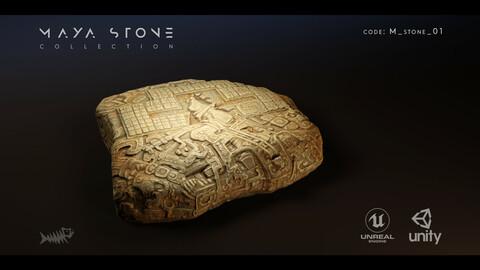 Mayan Stone 01 PBR 4K