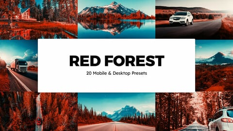 20 Red Forest LUTs and Lightroom Presets