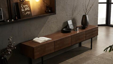 Ponte 2000 rubber wood high living room
