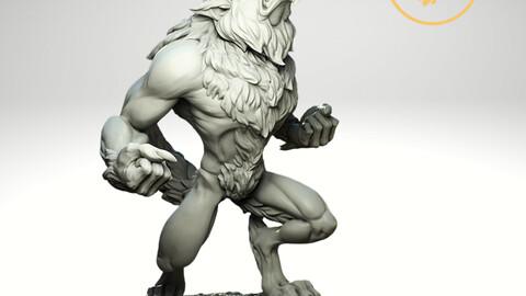 Angry Werewolf 2 variants 3D print model - STL Digital File