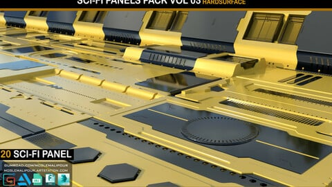 Sci-Fi Panels Pack vol 03