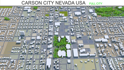 Carson City Nevada USA 3d model 40km