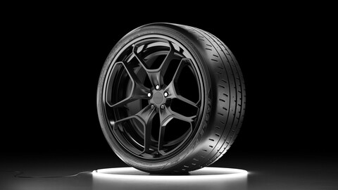 Wheel set Bridgestone Eagle F1 SuperCar 3R with Rotiform HUR rim