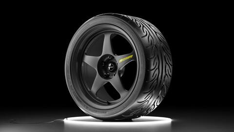 Wheel set Yokohama ADVAN NEOVA AD08R tire with Spoon SW388 rim