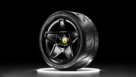 Wheel set TOYO PROXES R888R tire with HRE 505M rim
