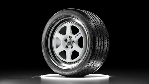 Wheel set WORK MEISTER L1 rim with TOYO PROXES 4 PLUS tire