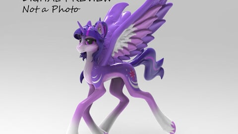 Twilight Sparkle 3D-model _OBJ_ (My Little Pony)