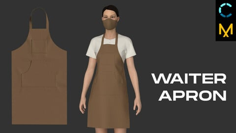 Waiter apron. Marvelous Designer, Clo 3D project