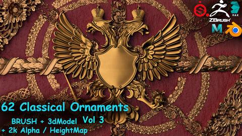 Fred's 62 Ornament Brushes&3dModels&Alphas Volume 3