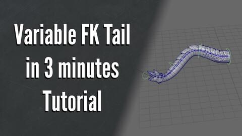 Variable FK Tail Speed Rigging  - Tutorial workshop