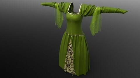Medieval Emerald Dress