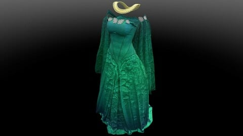 Medieval Dress with Necklace