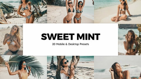 20 Sweet Mint LUTs and Lightroom Presets