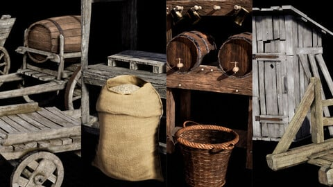 Medieval Town Props vol. 01