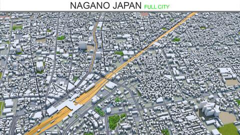 Nagano city Japan 3d model 40km