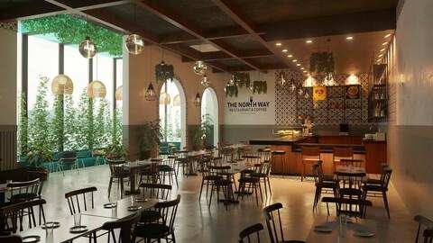 Modern Restaurant Vegetal Style