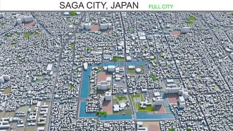 Saga City Japan 3d model 50km