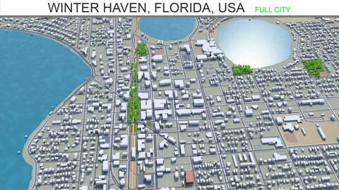 Winter Haven city Florida USA 3d model 25km