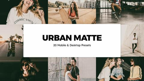 20 Urban Matte LUTs and Lightroom Presets