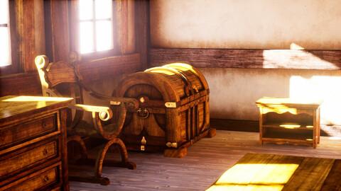 Medieval Fantasy Furniture Pack 01 - Unreal Engine 3D Asset Pack