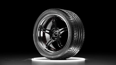 Wheel set Bridgestone Potenza S001 tire with SSR PROFESSOR SPX rim