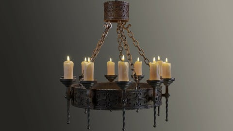 Candle Chandelier B