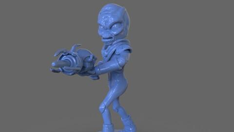 Alien Crypto 137 Sculpture