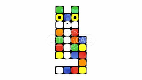 Multi-colored puzzle Cat