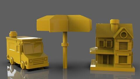 Restaurant Figurines Pack 3D print model