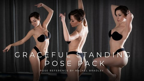 Graceful Standing Pose Pack - Pose Reference for Artists