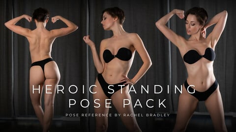 Heroic Standing Pose Pack - Pose Reference for Artists