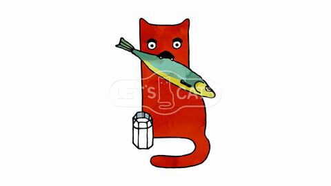 Milkin - Red Art Cat