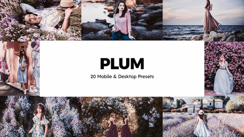 20 Plum LUTs and Lightroom Presets