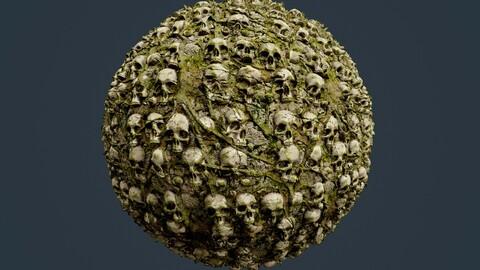 Skull Bones Horror Seamless PBR Texture 10