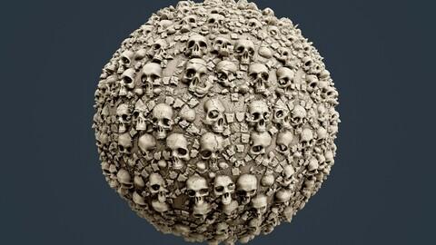 Skull Bones Horror Seamless PBR Texture 14