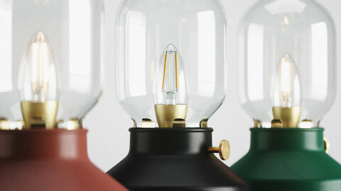Table lamp TARNABY by IKEA 3D model