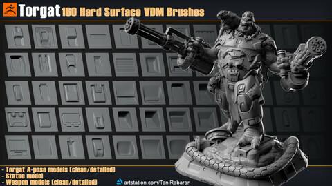 Torgat | 160 Hard Surface VDM Brushes for Zbrush