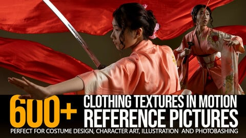 600+ Clothing Textures in Motion - Reference Pictures