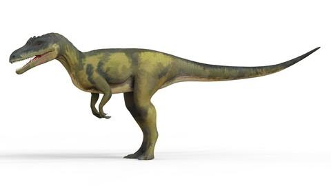 Deltadromeus Dinosaur 3D Model