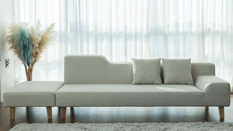 Basic Series DK205 3-Seat Full Cover Fabric Water Repellent Sofa