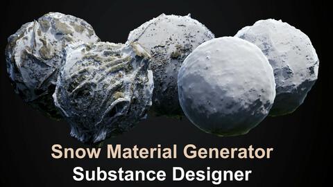 Snow Material Generator - Substance Designer