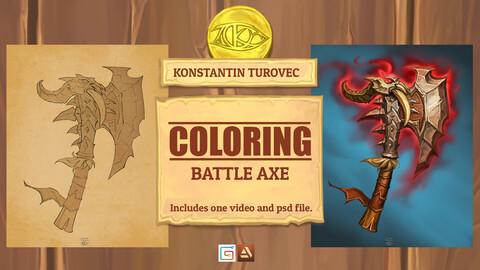 Coloring - Battle Axe